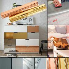 Möbelfolie 9€/m² Metallic glanz Klebefolie d-c-fix Chrom Folie Möbel Alu Metall