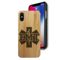 Bamboo Case Compatible with iPhone X, Xs, XR, Xs Max, EMT Emergency Medical Tech