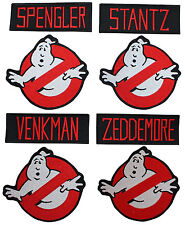 GHOSTBUSTERS Names and No Ghost Logos Set of 8 Iron-On/Sew On PATCHES