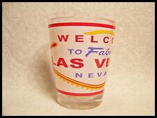 Shot Glass Las Vegas Nevada Fabulous Sign and Slot Machine Dice Wheel Cards 64