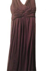 David Bridals Bridesmaid Girls Plum Purple Flower girl Long Dress Sz 8