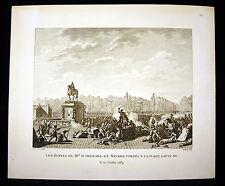 Les Bustes de Mrs D'Orléans & Necker portés Révolution française Berthault XIX