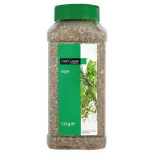 Quality Dried Sage in 135g Tub with 2 Closeable Lids Chefs Larder