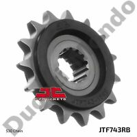 Front sprocket 15 tooth JT steel silent Ducati Multistrada 1200 & 1260 Enduro