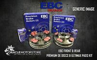 NEW EBC FRONT AND REAR BRAKE DISCS AND PADS KIT OE QUALITY REPLACE - PD40K852