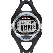 Timex T54281, Men's 50-Lap Ironman Black Resin Watch, Indiglo, Chronograph