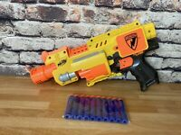 Nerf barricads rv-10 Blaster Good Clean Condition   With 10 New Foam Darts