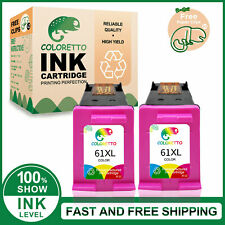 2pk 61XL Printer Ink Cartridge for HP OfficeJet 4636 2620 Envy 5535 Deskjet 2000