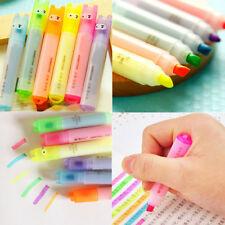 Kawaii Highlighter Pen Rabbit Stationery Marker Pens Mini Writing Set 6PCS Set