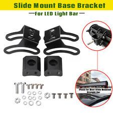2 Set LED Light Bar Slide Mount Base Bracket For Most Slide Mounted Straight Bar