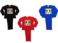 Boys Girls StampyLongNose Pixel Mr Stampy Long Pyjamas 7 to 12 Years