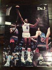 """Rare 1970's  Dr J Converse Poster 16 1/2 X 23""""  Sixers 76'ers Kobe"""