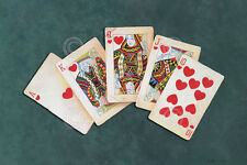 POKER ART PRINT - Royal Flush by Lisa Danielle Gamble Cards Casino Poster 11x14
