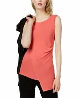 Bar lll Ruched Envelope Top Hibiscus Bloom Pink Size Small $44.50 NWT