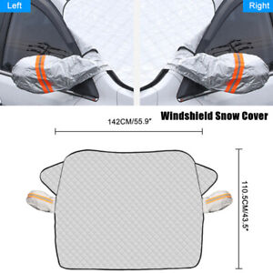 1PCS Car SUV Silver Universal Windshield Snow Cover With 2 Layer Protection Part