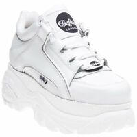 New Womens Buffalo White 1339-14 2.0 Leather Shoes Chunky Trainers Lace Up