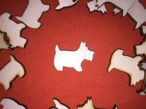 10 medium size DOG n1 SHAPES PLAIN UNPAINTED BLANK WOODEN TAG HANGING CRAFT