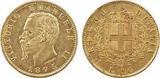 Italie, 20 lire or, Victor Emmanuel II, 1875 R= Rome - 22