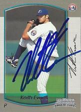 Keith Evans Montreal Expos 2000 Bowman Signed Rookie Card