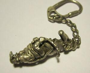 Portachiavi pescatore in argento 800 : Fischer Keyring in sterling silver