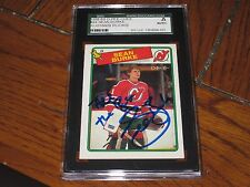 SEAN BURKE AUTOGRAPHED 1988-89 O-PEE-CHEE ROOKIE CARD -SGC SLAB-ENCAPSULATED