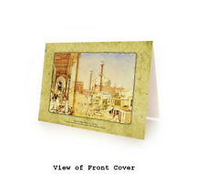BOX OF 10 EID MUBARAK GREETING CARDS. Jama Masjid in Delhi - Islamic Art/Gift
