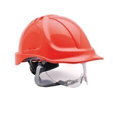 Portwest Endurance Visor Hard Hat Safety Helmet  RED Builders PW55