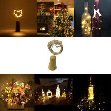 2M 20LED Solar Cork Wine Bottle Stopper Copper Wire Lichterketten Fairy Lampen