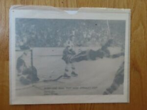 BOBBY ORR's Goal that Won Stanley Cup May 10 1970 BOSTON GARDEN Photo BRUINS