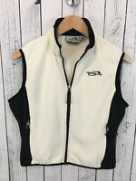 VTG Obermeyer Fleece Full Zip Vest Black Ivory Women's Size Medium