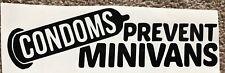 Condoms Prevent Vans Funny Jdm Sticker Vinyl Decal Bumper Racer Boy Car Vehicle