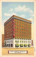 Indianapolis Indiana~Hotel Harrison~1939 Postcard