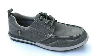 New MARGARITAVILLE Men's Marina Canvas Grey Casual Boat Shoes Size 9 (M) $75.00
