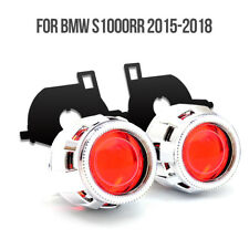 KT HID Projector Lens LED Angel Eye for BMW S1000RR 2015-2018 Headlight Red