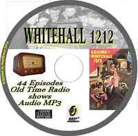 Whitehall 1212 - 44 OTR Old Time Radio Episodes Audio MP3 on CD