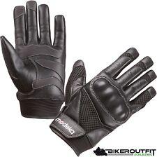 MODEKA Handschuhe AIRING Motorradhandschuhe Sommer Leder Biker schwarz 11 / XXL