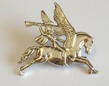 White Metal Lapel Badge Airborne Pegasus
