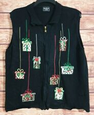 Ladies Christmas Jumper/Cardigan/Waistcoat RARE Size UK-16 VINTAGE Leopard