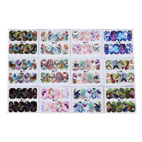12patterns water decals nail art transfer stickers butterfly manicure decor JB