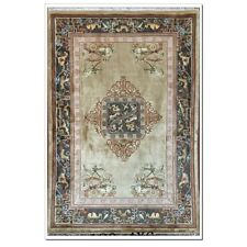 Yilong 4'x6' Antique Handmade Silk Carpet Palace Design Hand Craft Area Rug