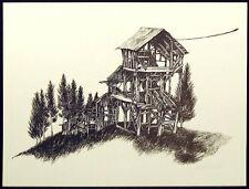 """Carol Davis Elvin """"An Abandoned Dream"""" 5 Hand Signed offset lithograph art print"""