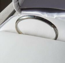 Antique 18k white gold etched design eternity wedding band