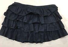 New Express Ruffle Mini Skirt Dark Blue Navy Ladies Juniors Size Small