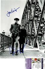 Dustin Hoffman + Jon Voight Signed 11x14 Photo w JSA COA #Q49668 Midnight Cowboy