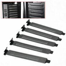 1pc PCI Bracket Slot Cover Dust Black Steel Blank Black Dlqq D2N1 Plate 4.7 L5C4