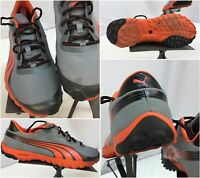Puma Lite Hike Tradewinds Sz 12 Men Gray Orange Running Shoes EUC YGI L7