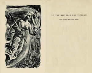 6 ORIG. ENGRAVINGS by LYND WARD as personal greeting cards from her & MAY McNEER