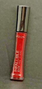 L'Oréal Paris Infallible 8 HR Pro Gloss, Red Fatale 320, 0.21 fl. oz.