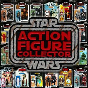 """Kenner style Star Wars """"Action Figure Collector"""" toy logo 4"""" embroidered patch"""