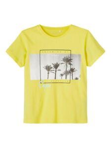 NAME IT Jungen T-shirt NKMVagno gelb Summer Staycation Größe 116 bis 146/152